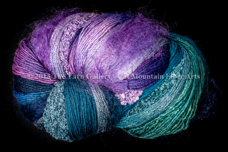 Aurora Borealis 750 yd 10 Textures Worsted Weight with Stellina